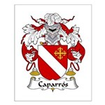 Caparros Family Crest Small Poster