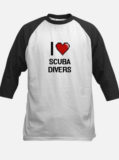 I Love Scuba Divers Digital Design Baseball Jersey