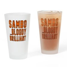 Sambo Bloody Brilliant Designs Drinking Glass