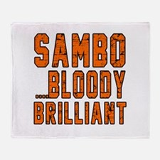 Sambo Bloody Brilliant Designs Throw Blanket