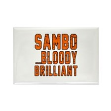 Sambo Bloody Brilliant Designs Rectangle Magnet