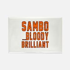 Sambo Bloody Brilliant Designs Rectangle Magnet