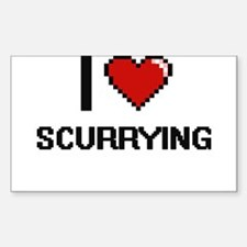 I Love Scurrying Digital Design Decal