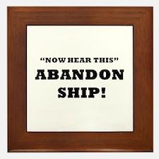 ABANDON SHIP Framed Tile