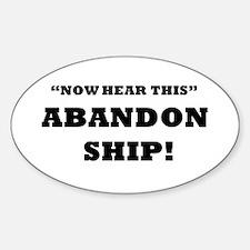 ABANDON SHIP Decal
