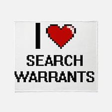 I Love Search Warrants Digital Desig Throw Blanket