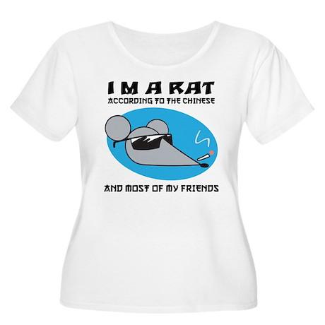I'M A Rat Women's Plus Size Scoop Neck T-Shirt