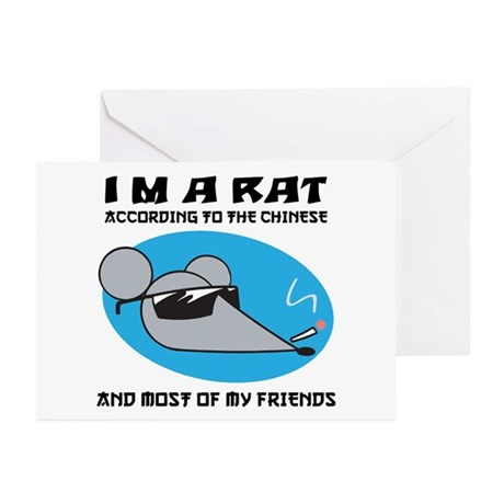 I'M A Rat Greeting Cards (Pk of 20)