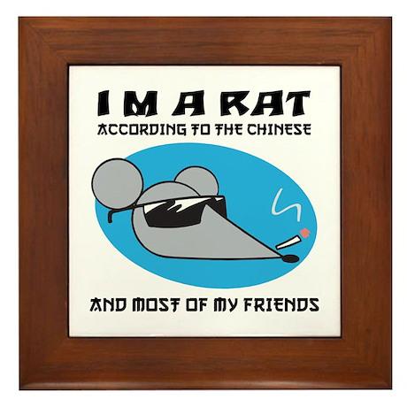 I'M A Rat Framed Tile