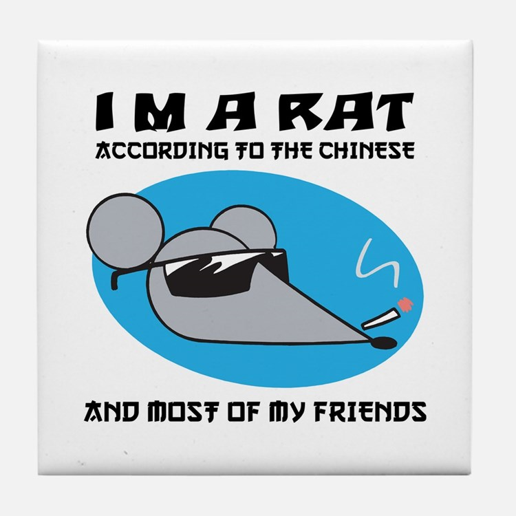 I'M A Rat Tile Coaster