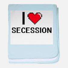 I Love Secession Digital Design baby blanket