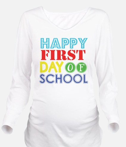 Cute Elementary school Long Sleeve Maternity T-Shirt