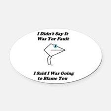 Blaming You- Mouth People Oval Car Magnet