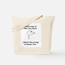 Blaming You- Mouth People Tote Bag