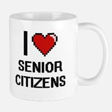 I Love Senior Citizens Digital Design Mugs