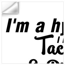 I'M A HYBRID I RUN ON RACOS & PIZZA Wall Decal