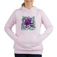 Celtic Octopus - Purple Women's Hooded Sweatshirt