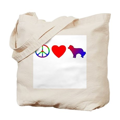 Peace, Love, Kooikerhondje Tote Bag