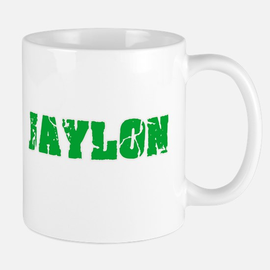 Jaylon Name Weathered Green Design Mugs