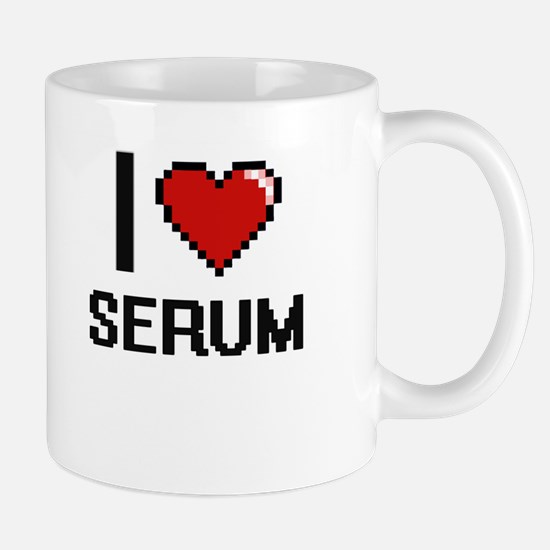I Love Serum Digital Design Mugs