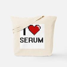 I Love Serum Digital Design Tote Bag