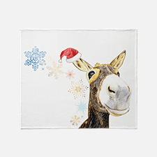 Christmas-Donkey Throw Blanket
