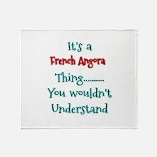 French Angora Thing Throw Blanket