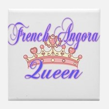 French Angora Queen Tile Coaster