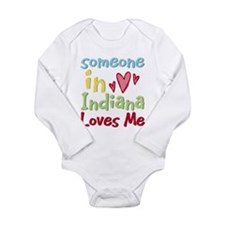 Solopress state town usa someone heart child Long Sleeve Infant Bodysuit