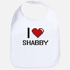 I Love Shabby Digital Design Bib