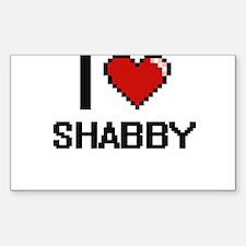 I Love Shabby Digital Design Decal