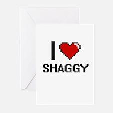 I Love Shaggy Digital Design Greeting Cards