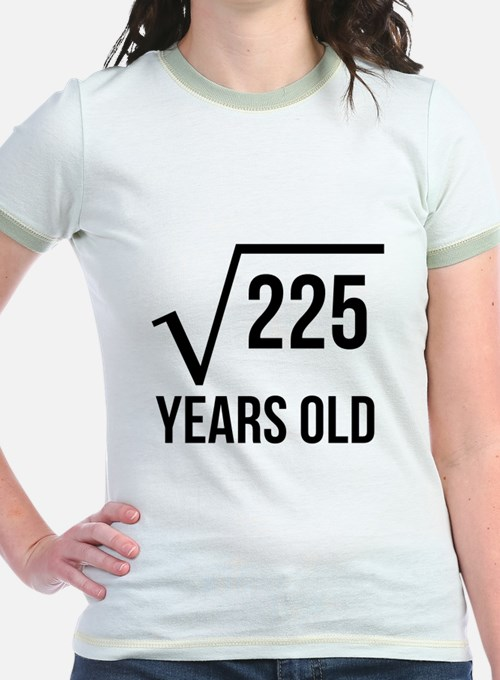 15 Years Old Square Root T-Shirt