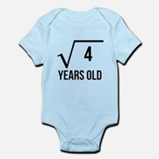 2 Years Old Square Root Body Suit