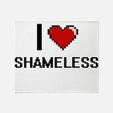 I Love Shameless Digital Design Throw Blanket
