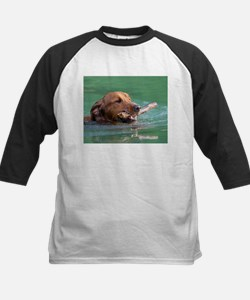 Happy Retriever Dog Baseball Jersey