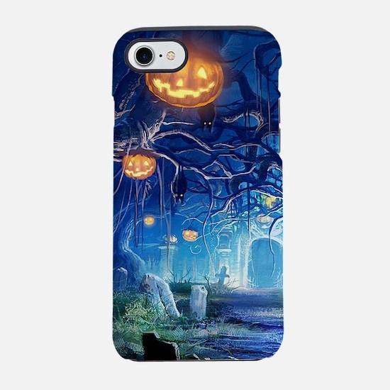 Halloween Night In Cemetery iPhone 8/7 Tough Case