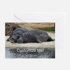 Hippo Love and Snuggles Greeting Cards (Pk of 10)