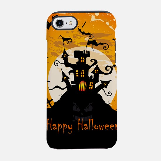 Castle On Halloween Night iPhone 8/7 Tough Case