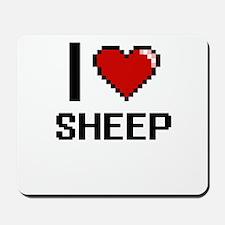 I Love Sheep Digital Design Mousepad
