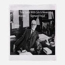 Freud And Cats Throw Blanket