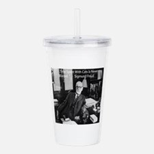 Freud And Cats Acrylic Double-Wall Tumbler
