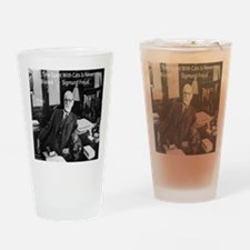 Freud And Cats Drinking Glass