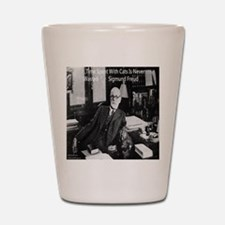 Freud And Cats Shot Glass