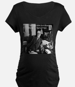 Freud And Cats Maternity T-Shirt