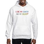Soldier/Country Hooded Sweatshirt