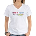 Soldier/Country Women's V-Neck T-Shirt