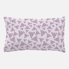 Purple Flowers Pattern Pillow Case