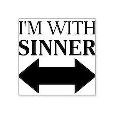 "Unique Religious humor Square Sticker 3"" x 3"""
