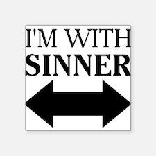 """Cute Sinner Square Sticker 3"""" x 3"""""""